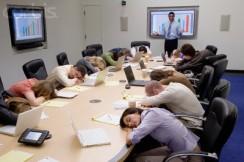 Boring Presentation --- Image by © Corbis
